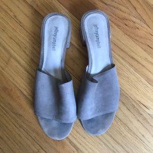 Jeffrey Campbell grey suede sandals sz 9.5